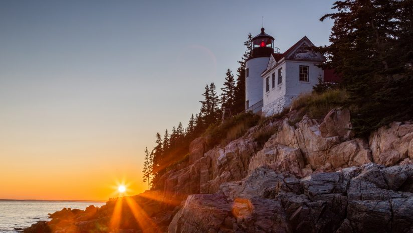 Sunset at Bass Harbor Lighthouse #2