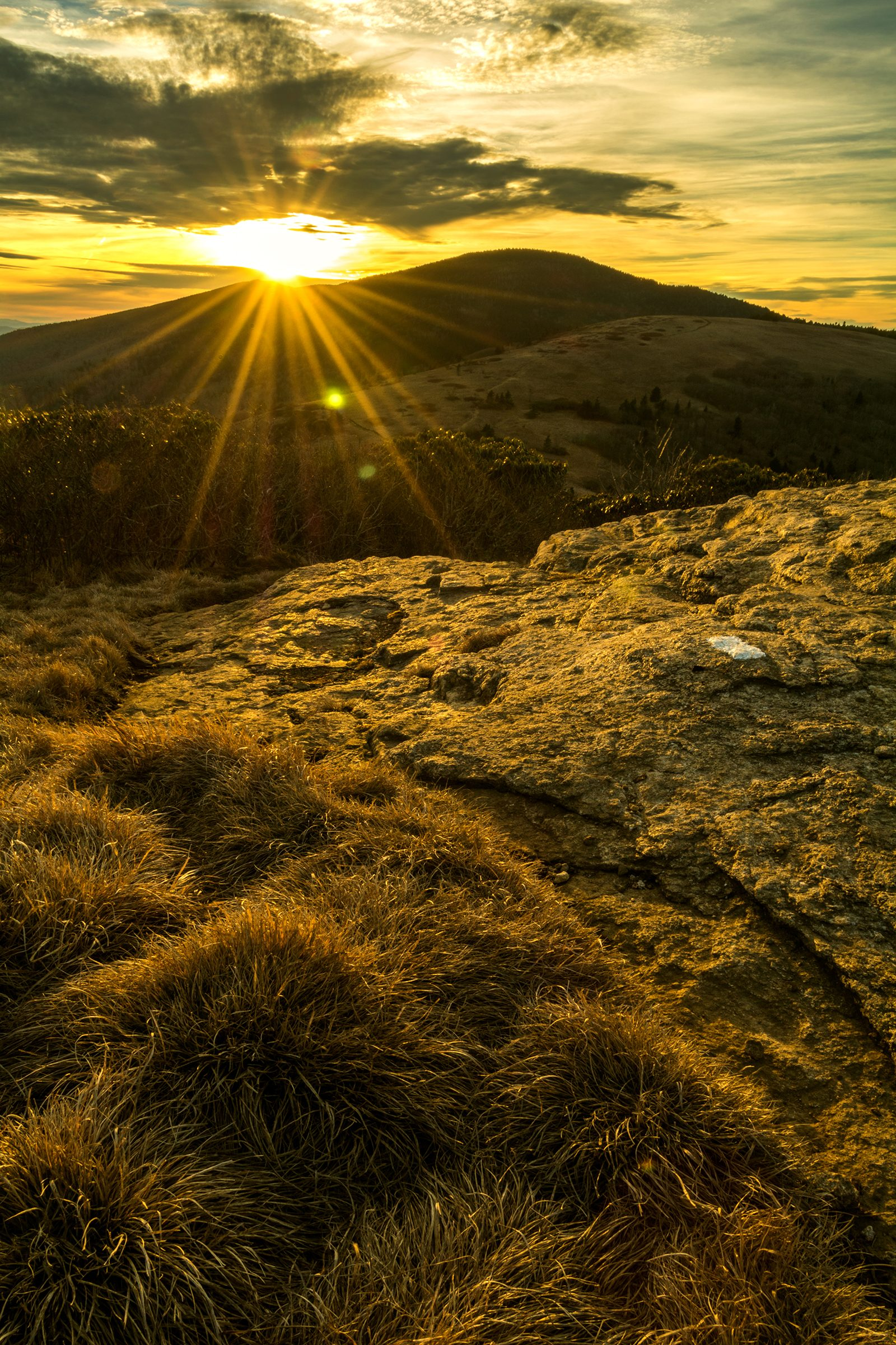 Sunset Over Roan Mountain from the Appalachian Trail