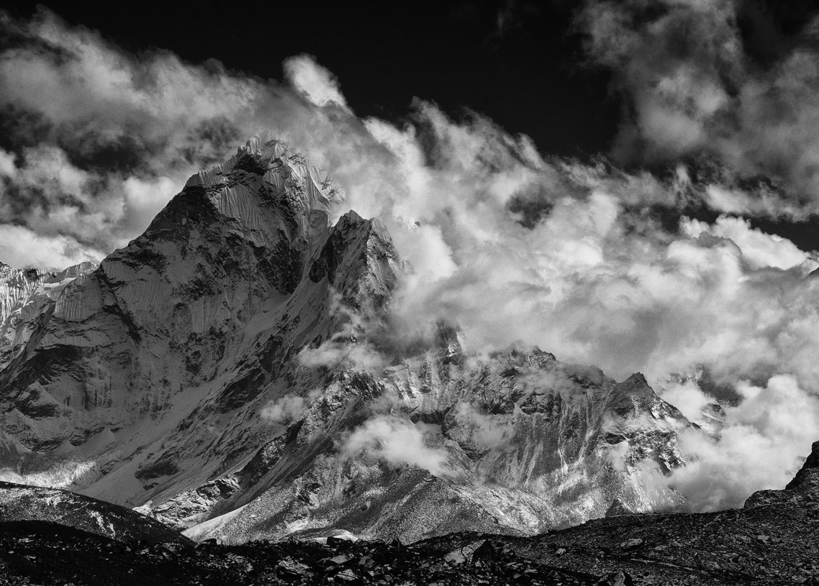 Clearing Storm on Ama Dablam