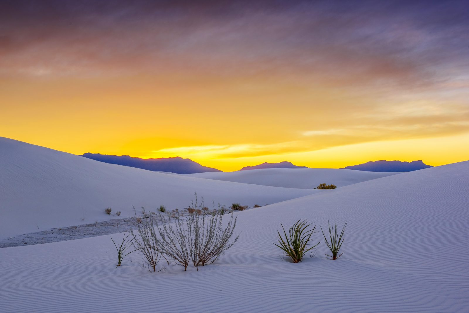 White sands autumn sunset 2