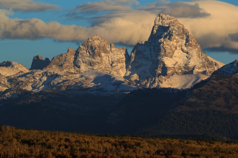 Early Dusting On The Tetons