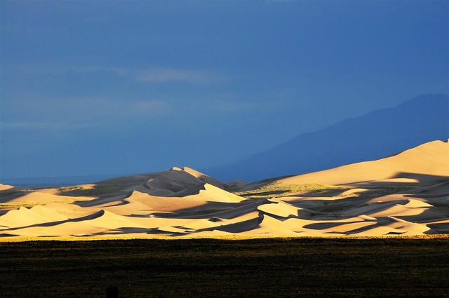 sunset at the sand dunes