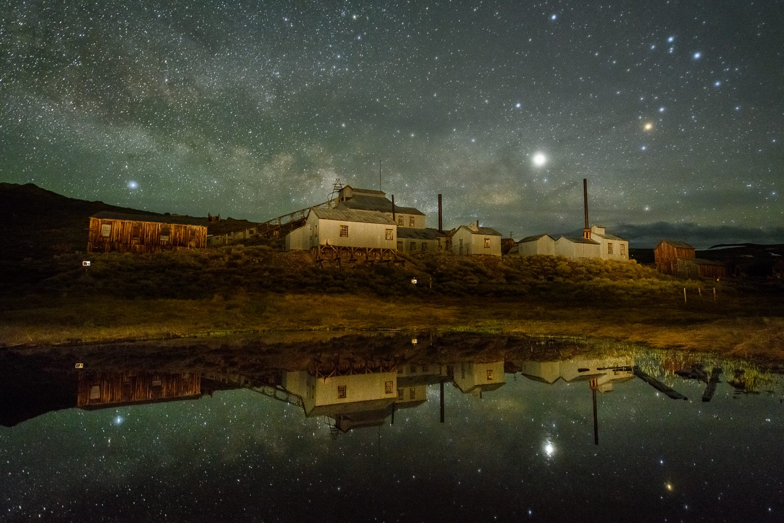 Bodie Milky Way and Mill Reflection
