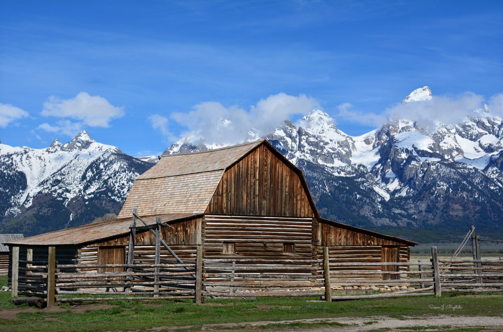 T. A. Moulton Barn Against the Tetons