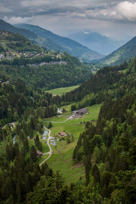 Valley in the Swiss Alps