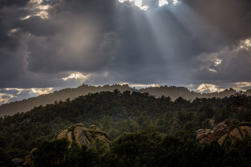 Sun Rays Over the Toquima Range