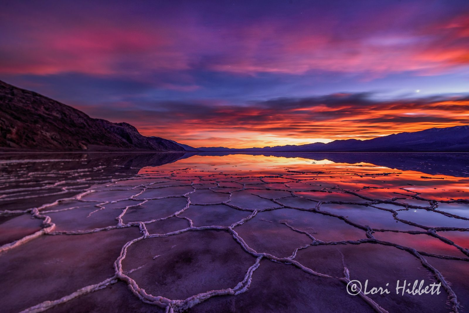 Death Valley Sunset Reflection