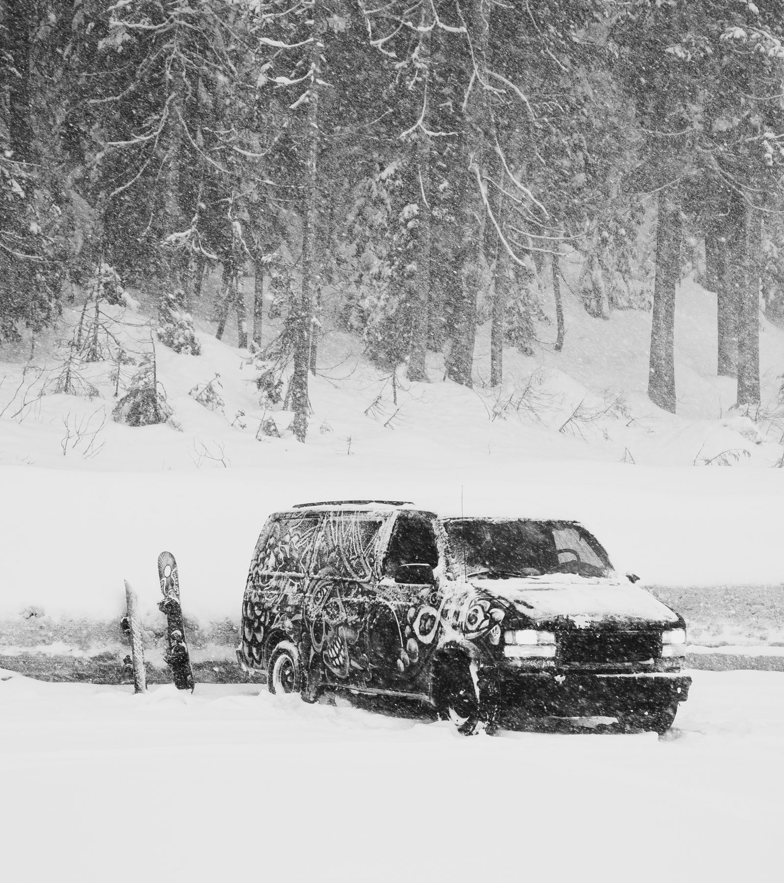 Adventure Van In Extreme Snow Storm