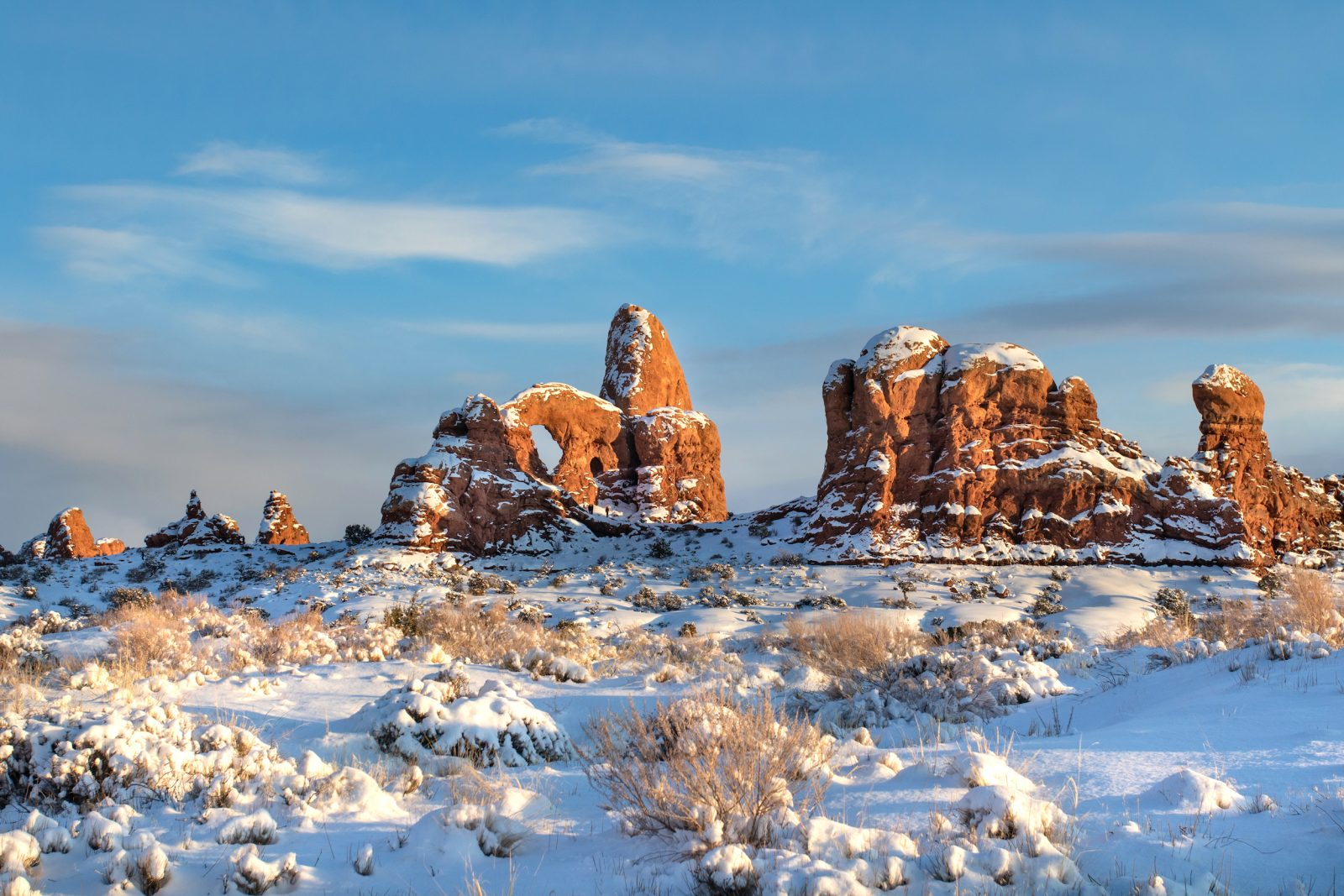 Snowy Arches at Golden Hour