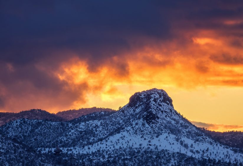 Fire and Ice at Thumb Butte