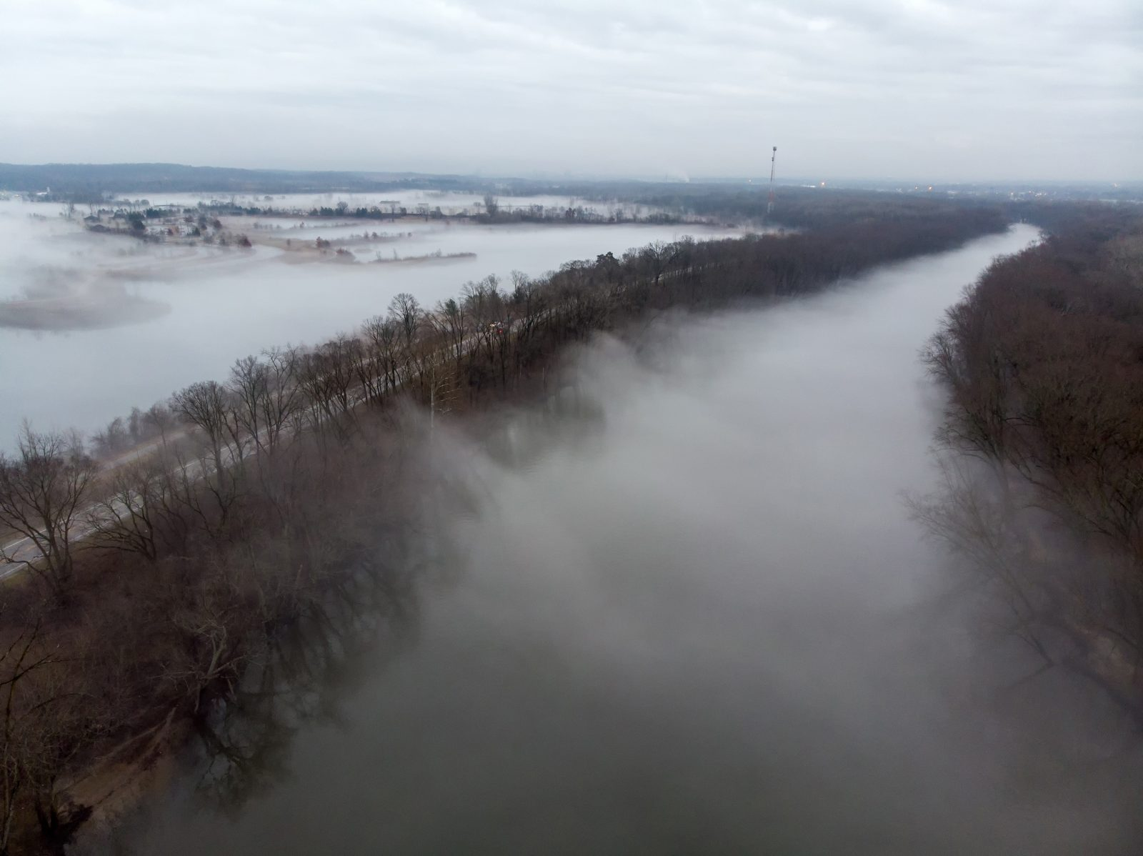 Evaporation Fog on the Grand River