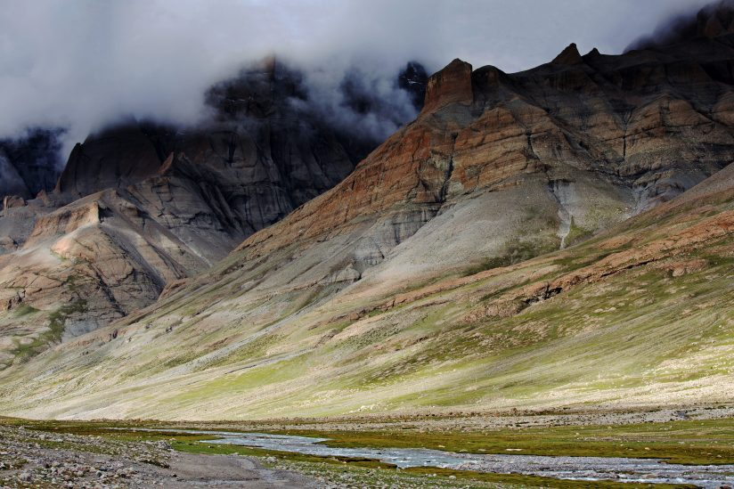 View of Gangdise range in Tibet