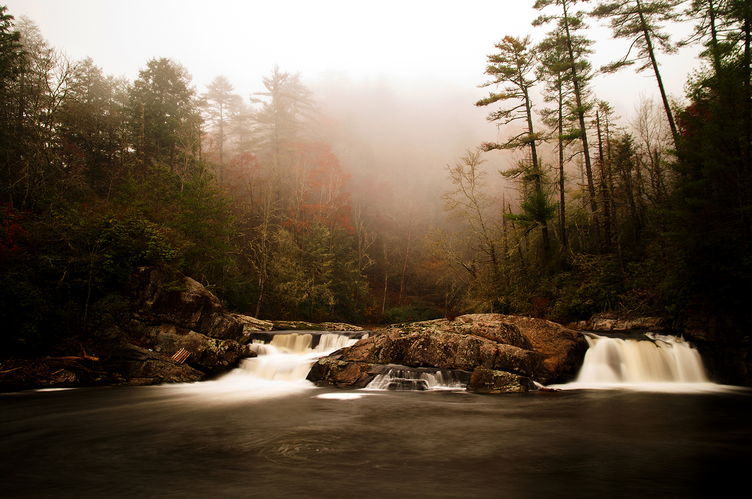 A foggy day at Linville Falls