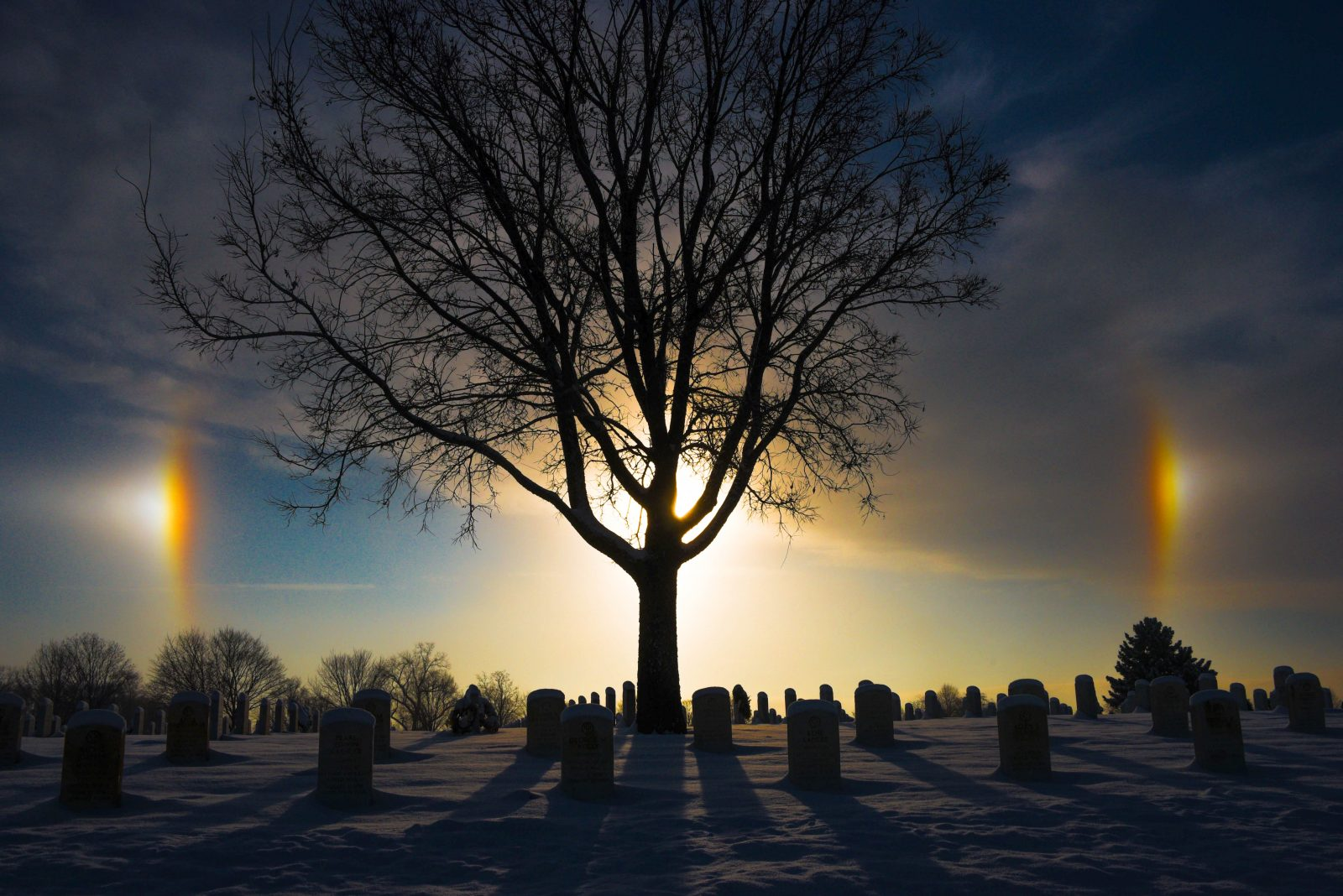 Sun Dogs Over Fort Snelling National Cemetery