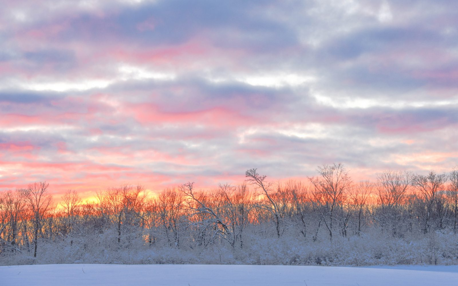 Sunset after the Snow