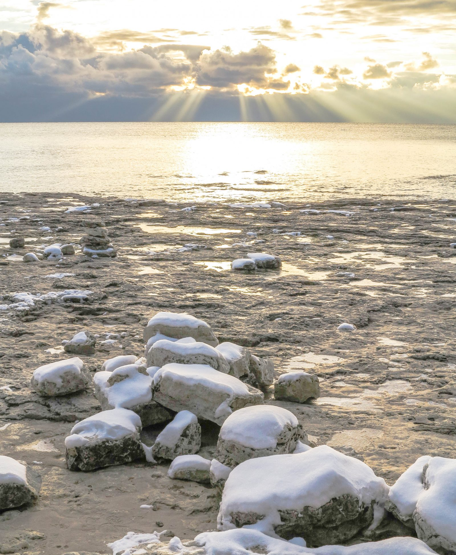 Lake Michigan Morning after the Snow