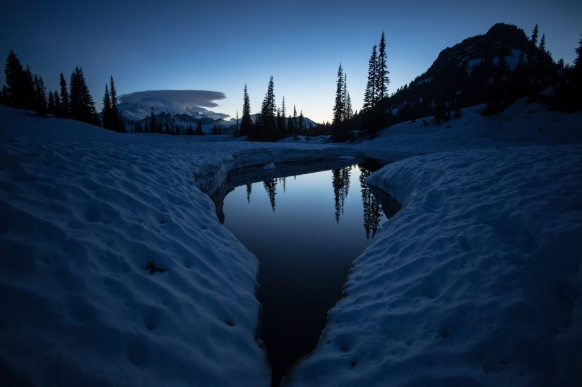 Upper Tipsoo Lake After Sunset