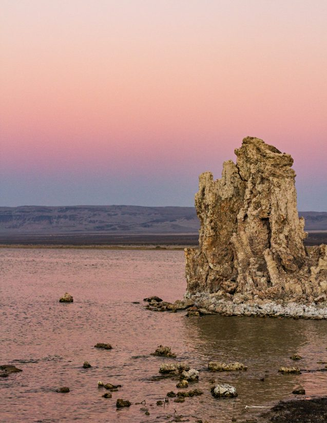 Pink Sunset at Mono Lake