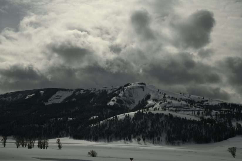 View from buffalo ranch Yellowstone of approaching storm