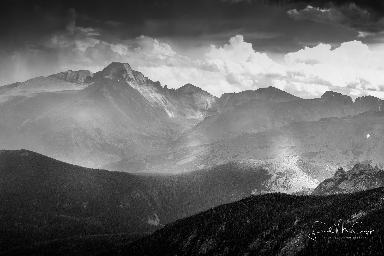 Black and White Colorado Mtountains