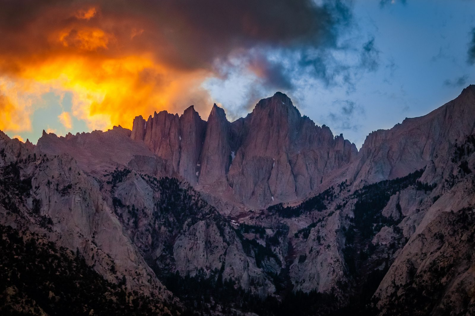 Clouds on Fire Over Mount Whitney