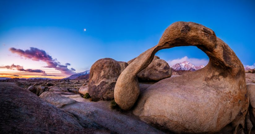 Dawn on The Eastern Sierra and The Mobius Arch