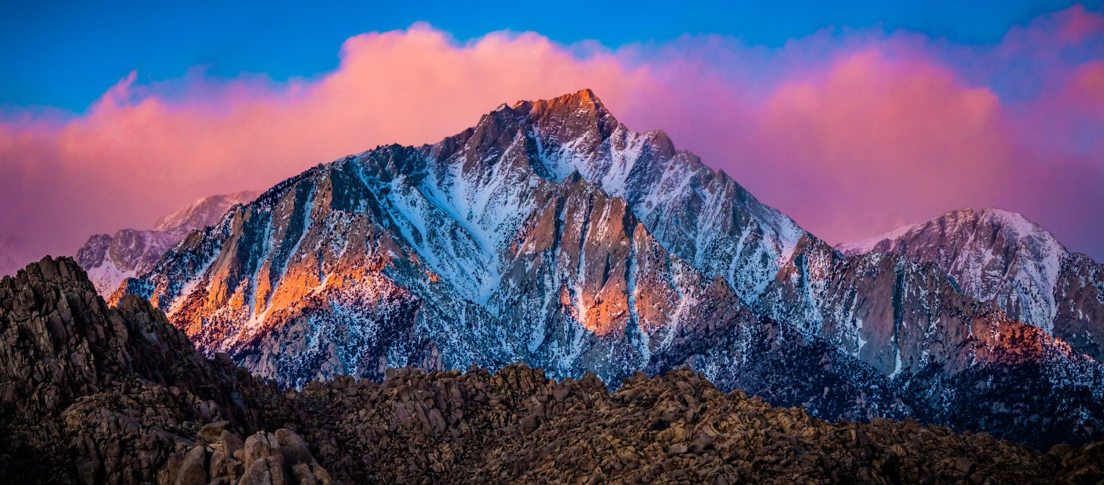 Awesome Sunrise Event Lone Pine Peak