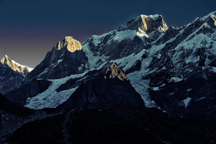 Golden hour over Kedarnath peak