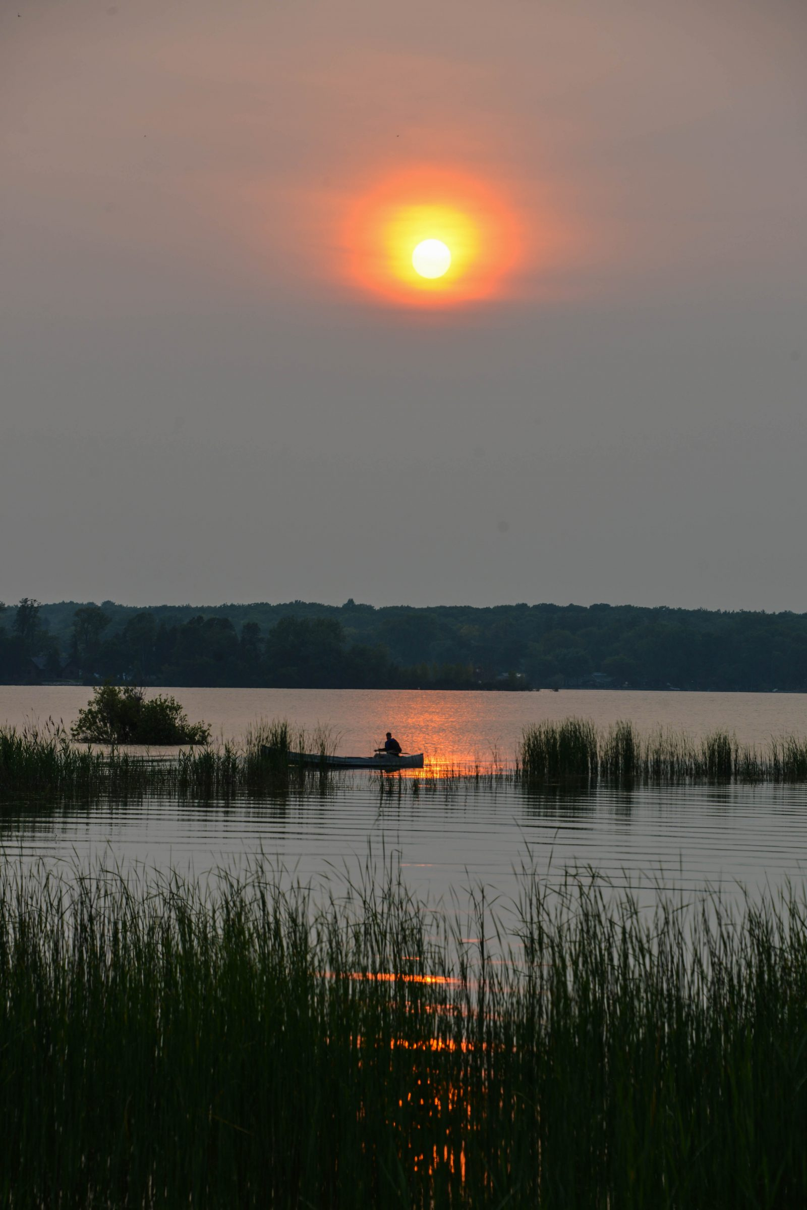 Canoeing at Sunset