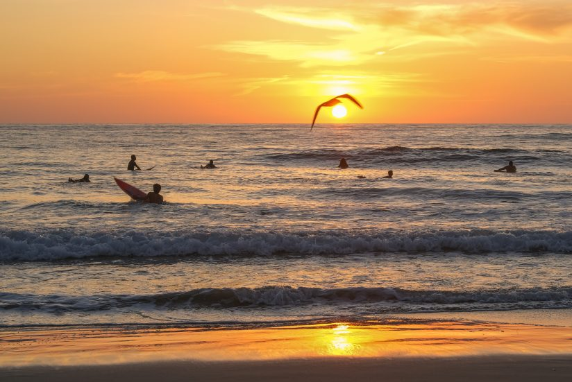 A Peaceful Surfer Sunset