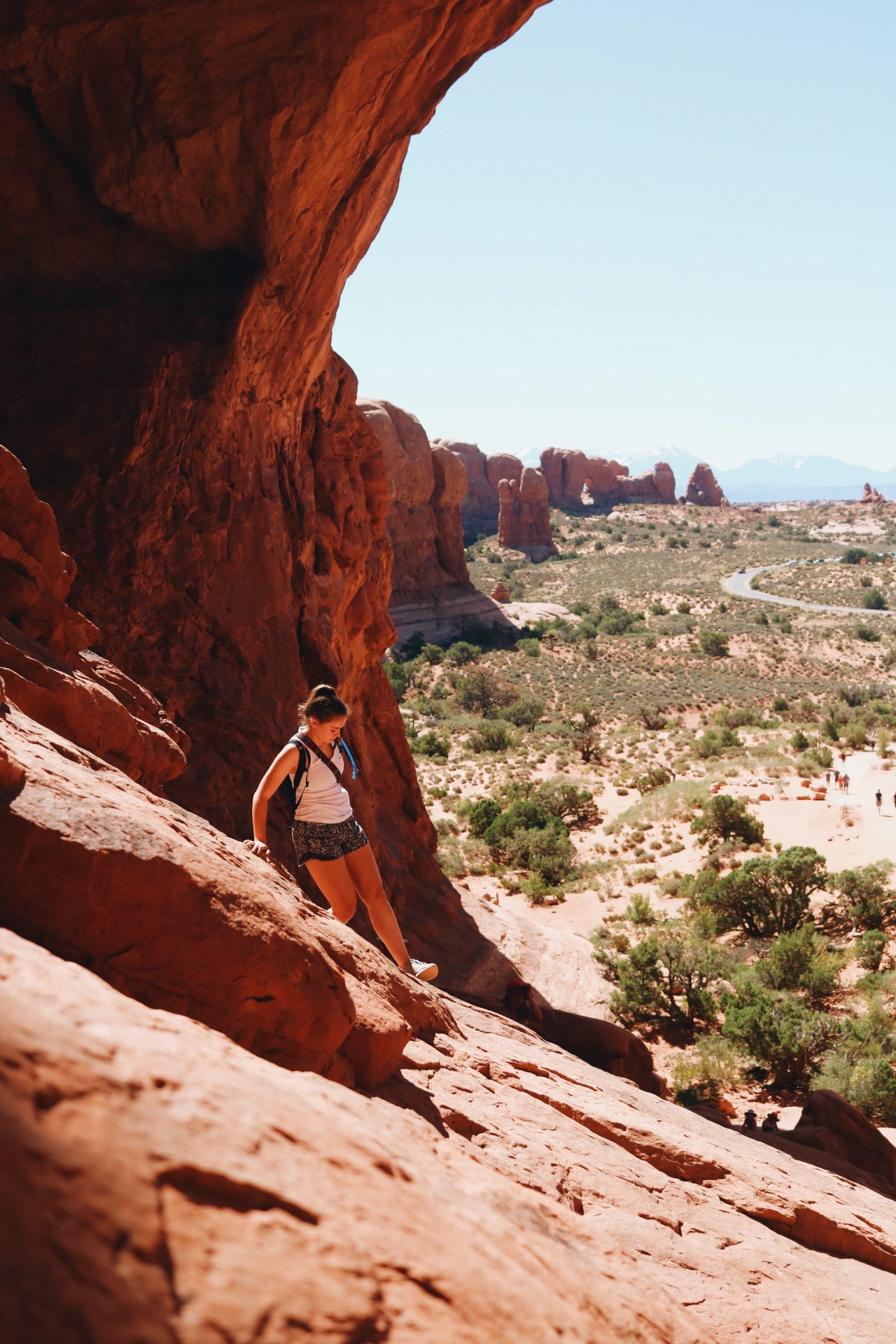 Climbing the Double Arch