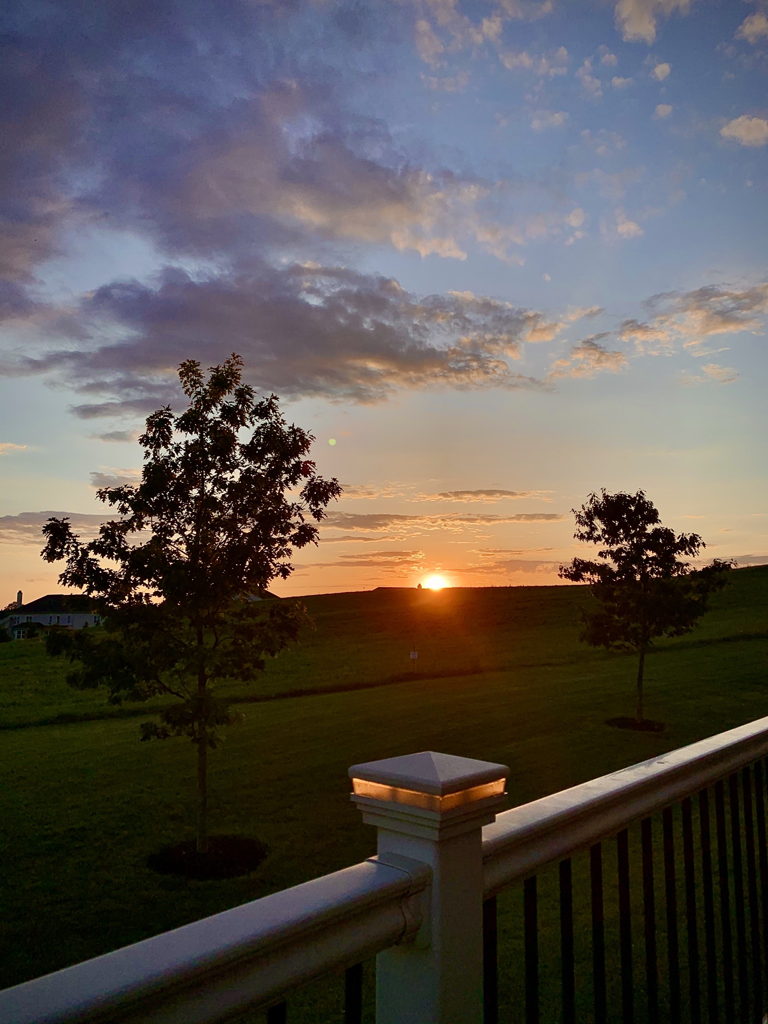 View of the Sunset from the backyard during Covid