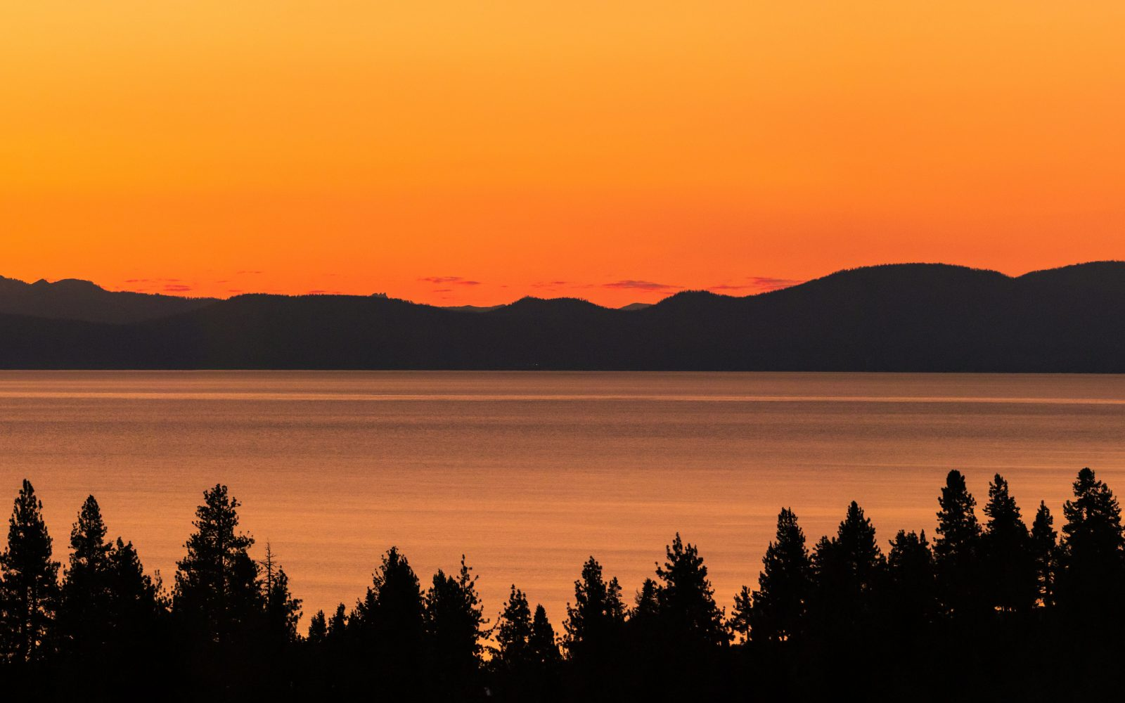 August Summer Sunset in Lake Tahoe