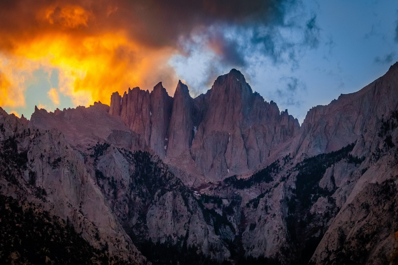 Summer Cloud Over The Spires of Mount Whitney
