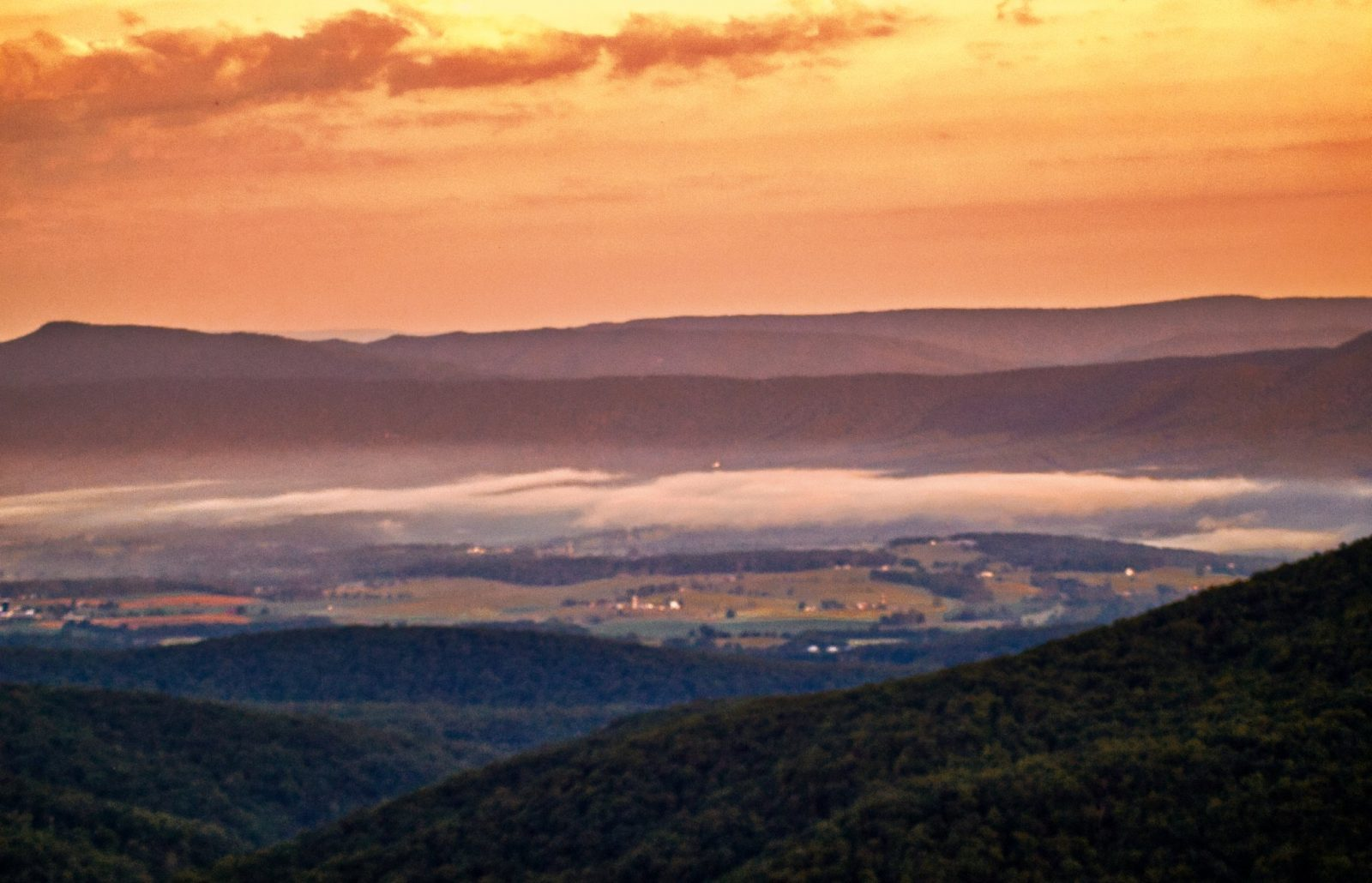 Sunrise Over the Foothill of Appalachia