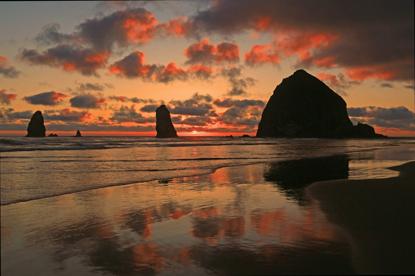 Cannon Beach summer sunset