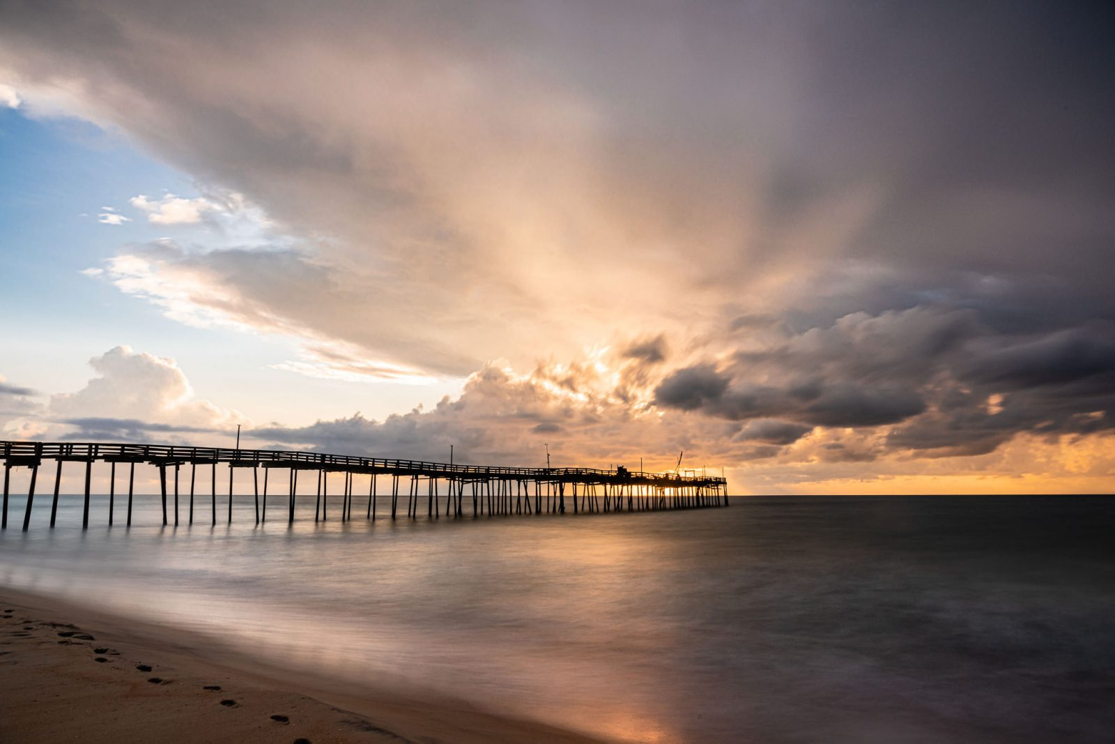 Clearing Storm at the Avon Fishing Pier