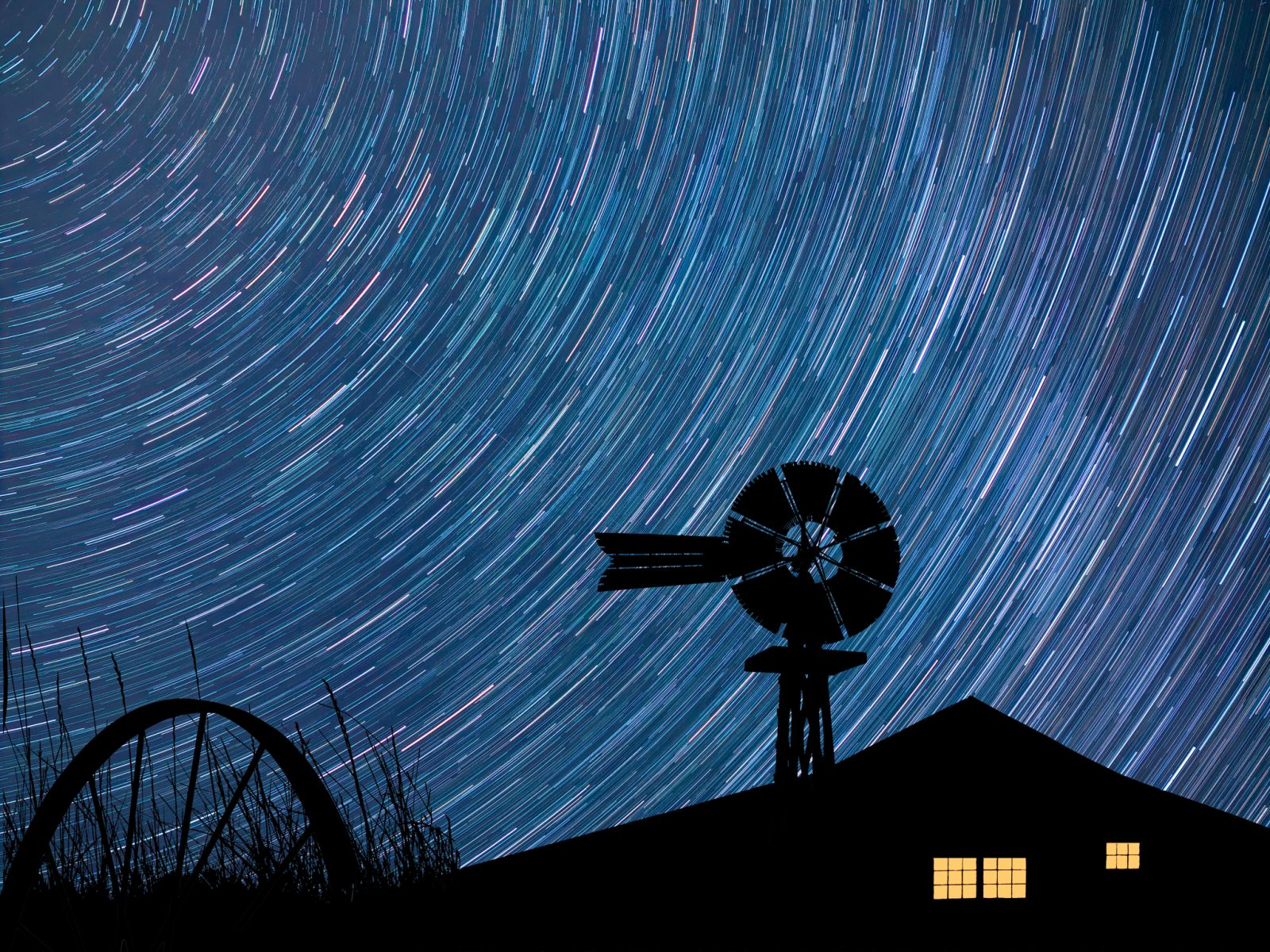 Star Trails over the Farm