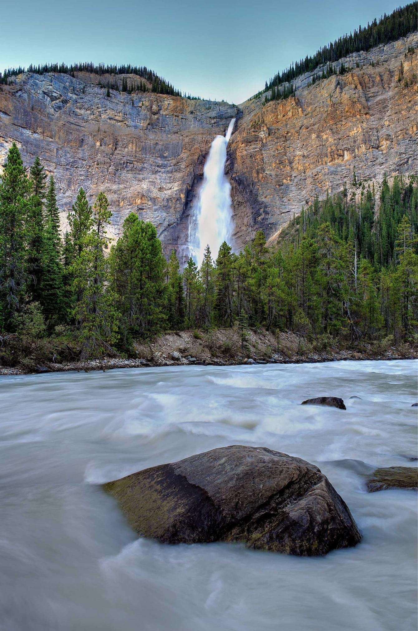 Takakkaw Falls and the Yoho River