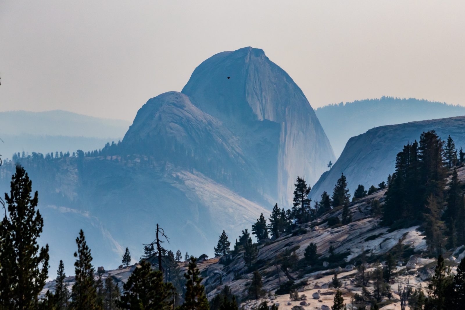 Half Dome & The Smoke From California Wildfires