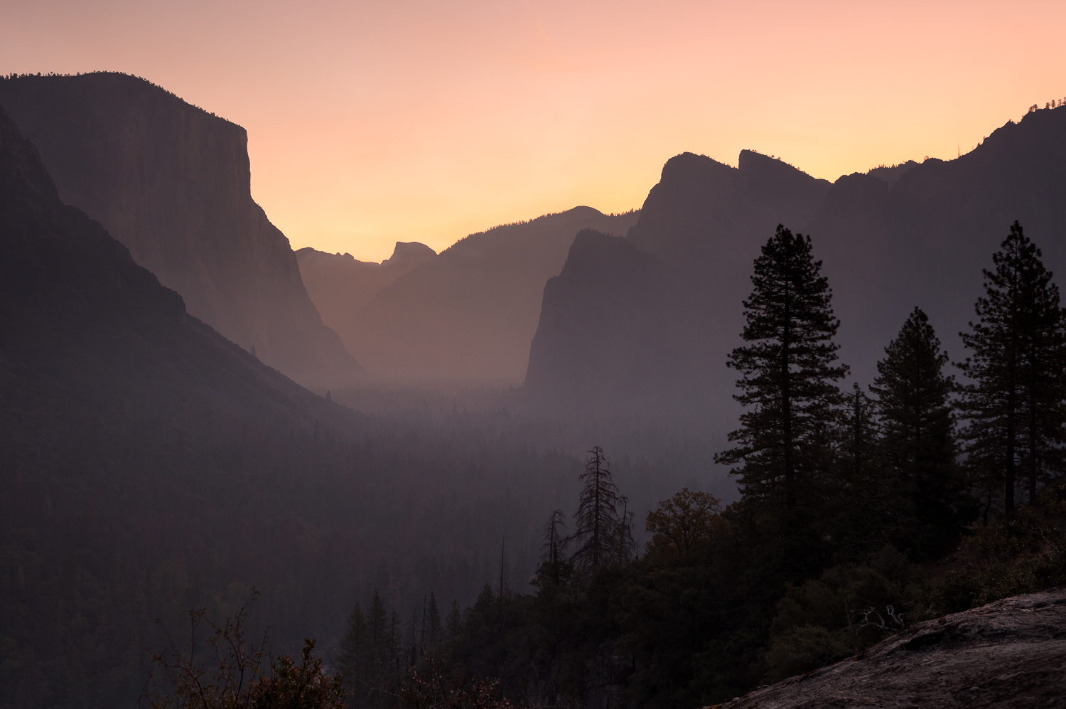 Yosemite Valley Layers at Dawn
