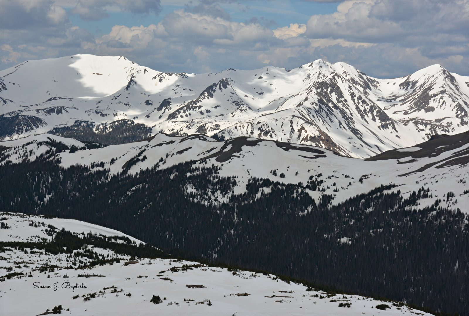 Sunny Mountain Tops-Rocky Mtn. National Park