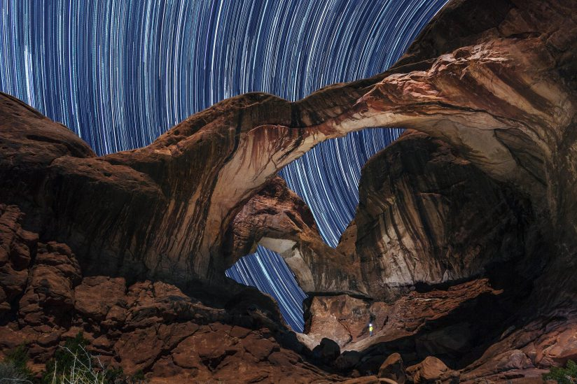 Double Arch Star Trails