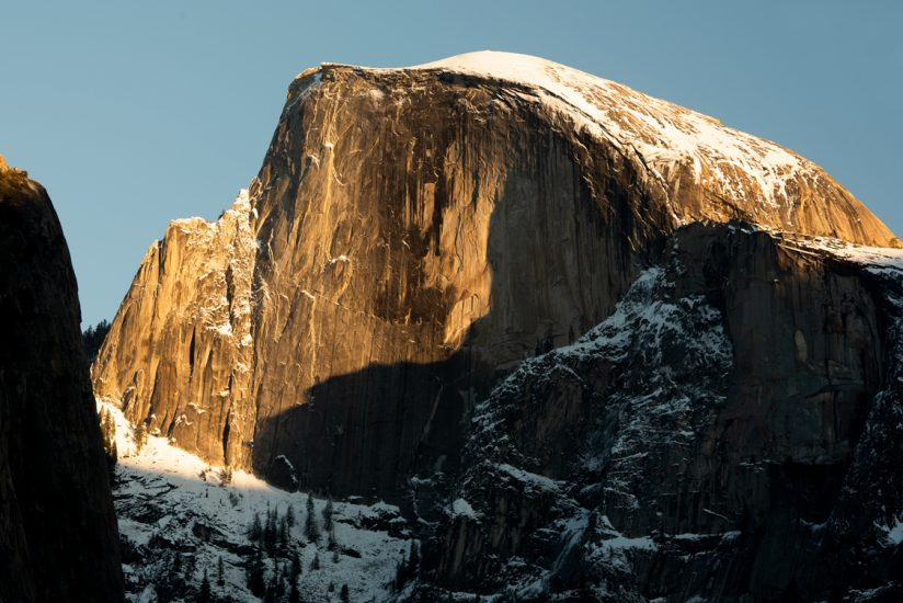 Spot light on Half Dome