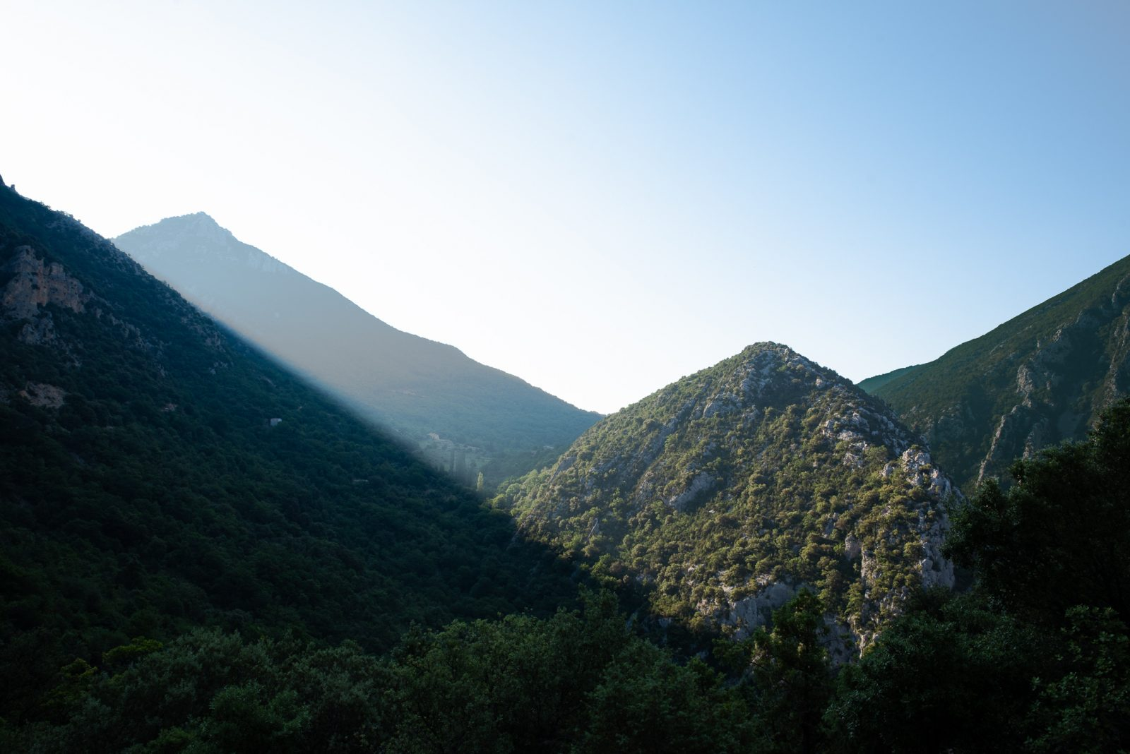 sunrise in Verdon Gorge