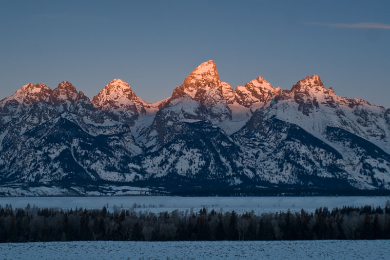 Winter in then Tetons