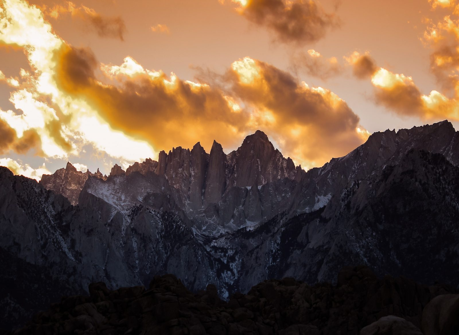Mt Whitney and A Sunset Filter