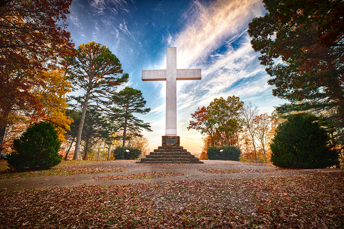 Sewanee Memorial Cross at Sunrise