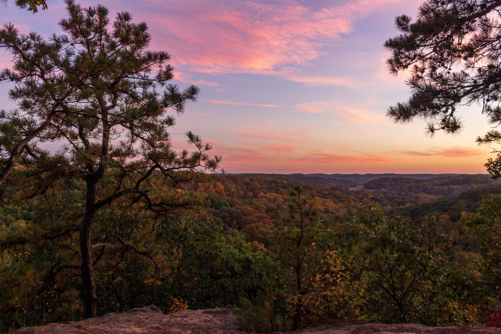 Sunset from Jacob's Ladder