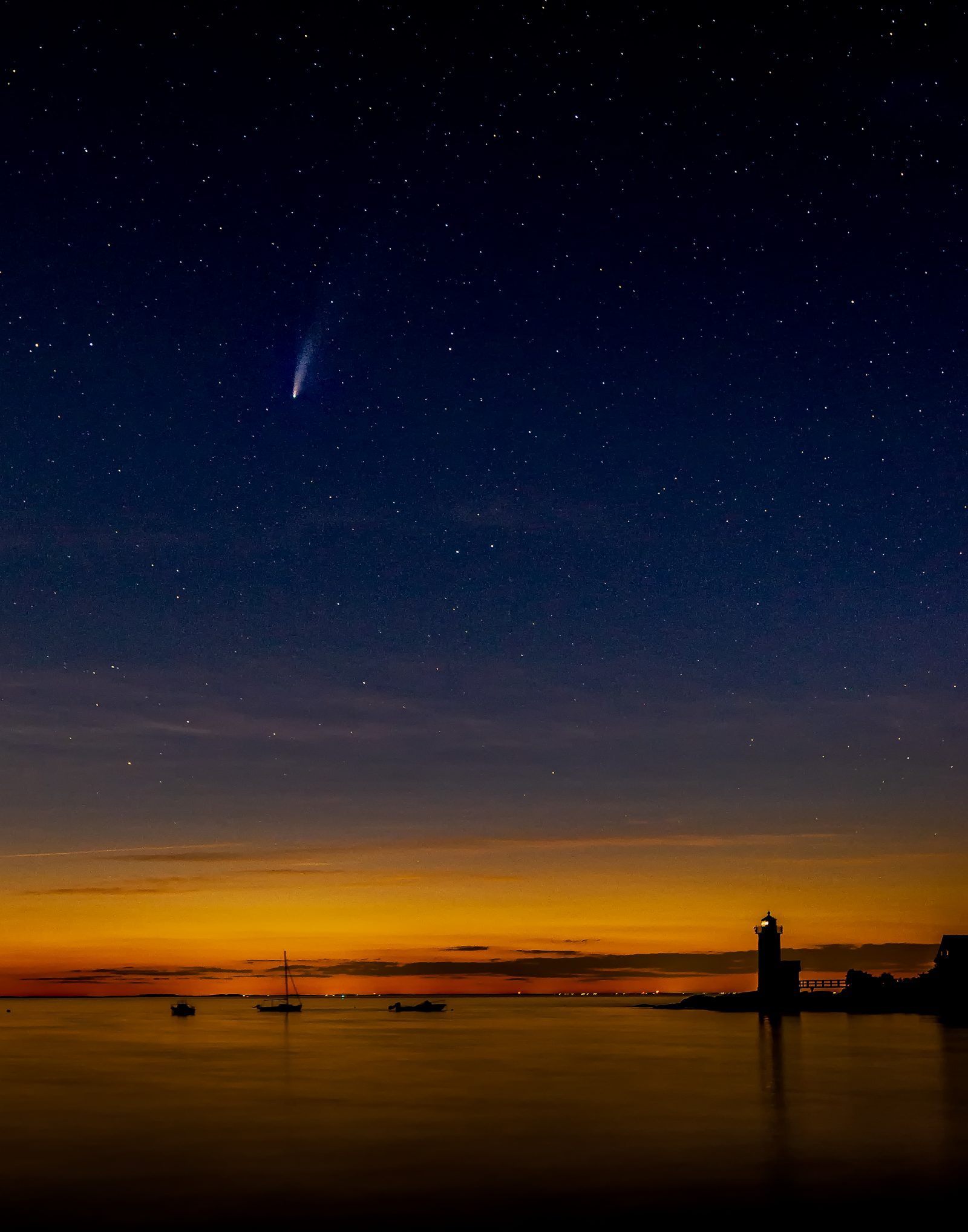 Comet Over the Lighthouse